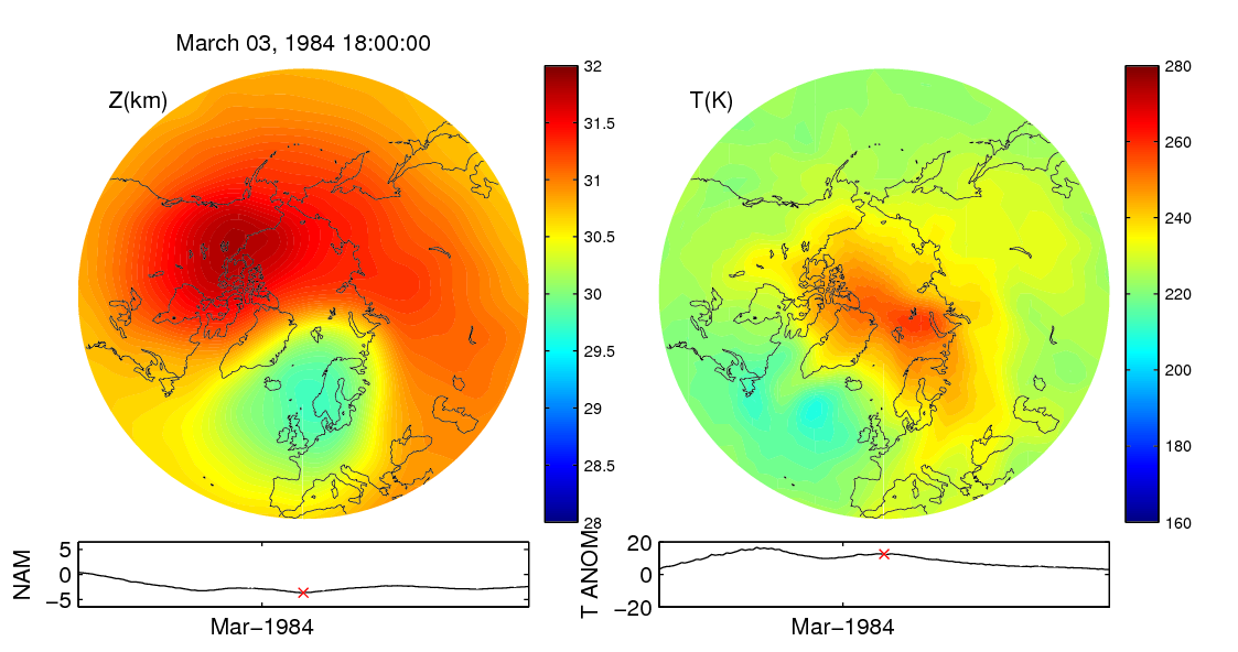 Stratospheric sudden warming 1984_03_03