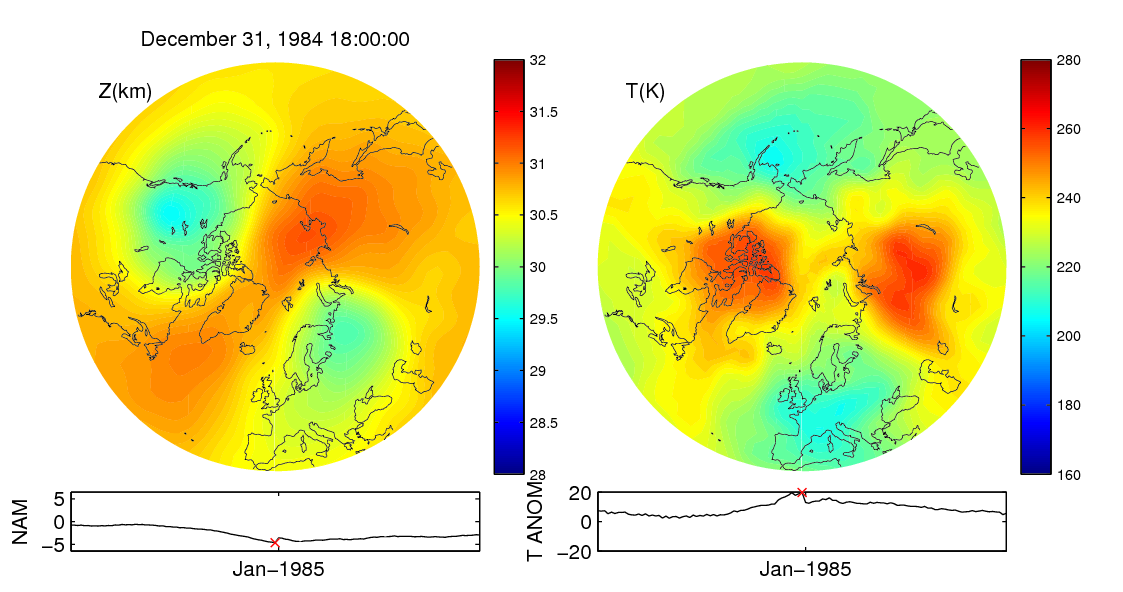 Stratospheric sudden warming 1984_12_31