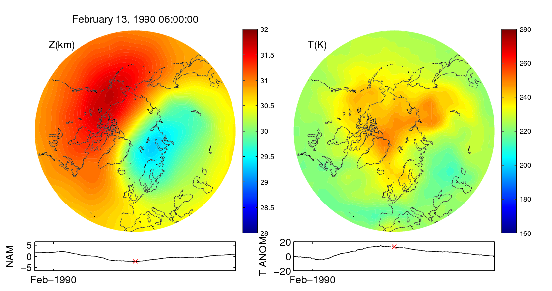 Stratospheric sudden warming 1990_02_13