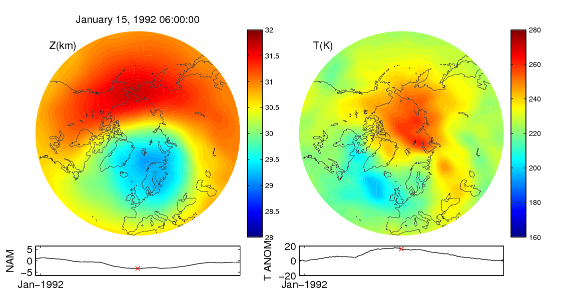 Stratospheric sudden warming 1992_01_15