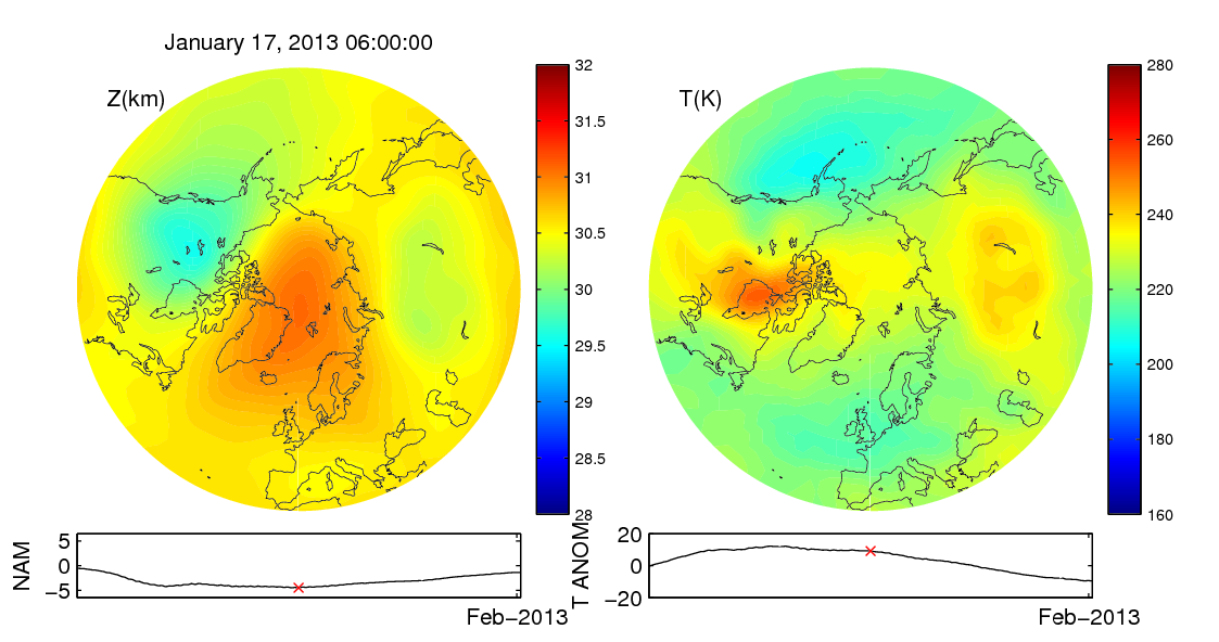 Stratospheric sudden warming 2013_01_17